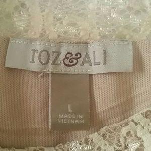 Roz & Ali Tops - roz & Ali lace tank top